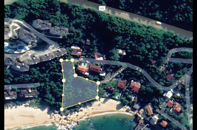 venda terreno frente mar rio